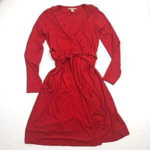 Banana Republic holly berry red wrap dress small